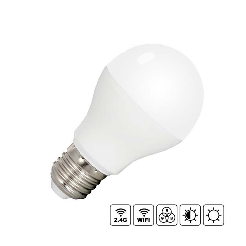 Bombilla LED WiFi E27 Bulb 6W RGB+CCT, RGB + Blanco dual, Regulable